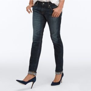 AG NIKKI Relaxed Skinny Satellite Stretch Selvage!